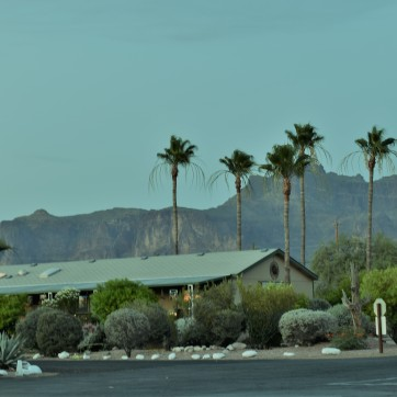 View of Superstition Mountain from KOA site