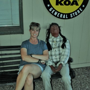 Melissa and Friend at Mesa Arizona KOA